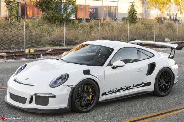 BBS Magnesium Mag Wheels in Black 20x9 and 20x12 White Porsche GT3 GT3RS Front Side