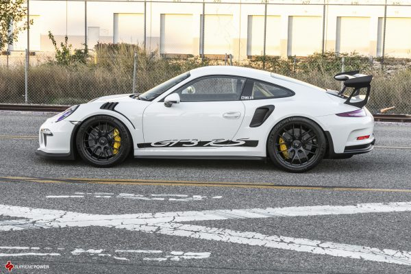 BBS Magnesium Mag Wheels in Black 20x9 and 20x12 White Porsche GT3 GT3RS Side