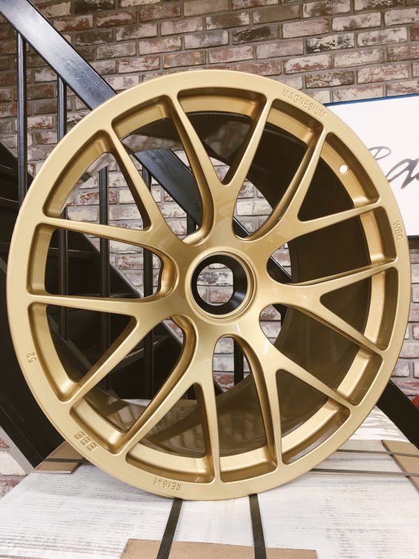 BBS Magnesium Wheels in Gold 20x9 and 20x12 Porsche GT3