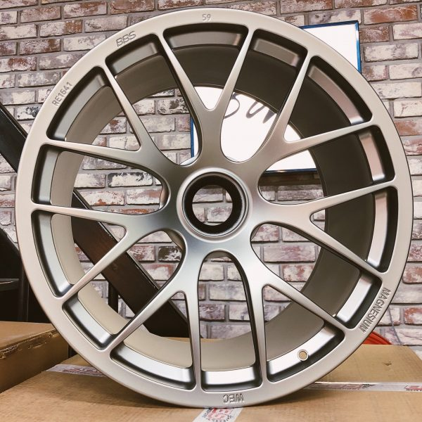 BBS Magnesium Wheels in Silver 20x9 and 20x12 Porsche GT3 GT3RS