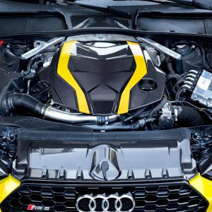 Capristo Carbon Fiber Engine Cover and Lock Cover Set - RS4 / RS5 (B9)