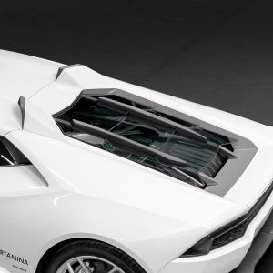 Capristo Carbon and Glass Bonnet with Scoops - Huracan