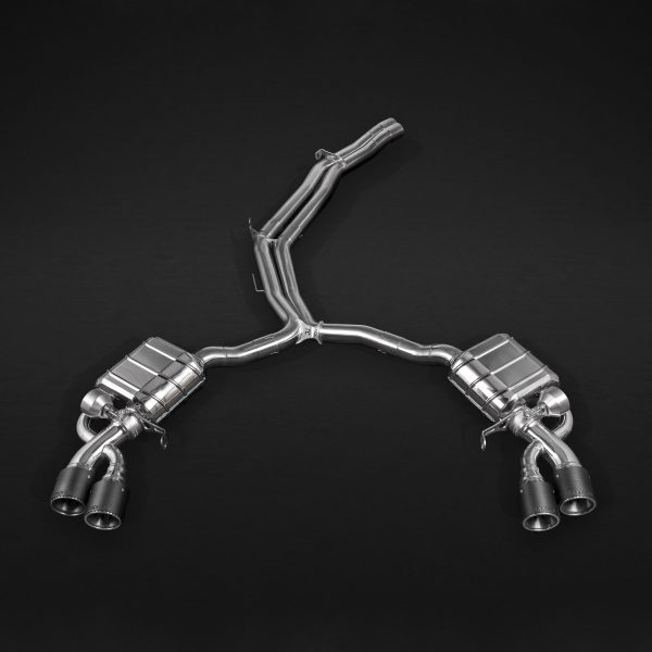 Capristo ECE Valved Exhaust with Mid-Pipes and Carbon Tips E2P with Remote - RS4 / RS5 (B9)