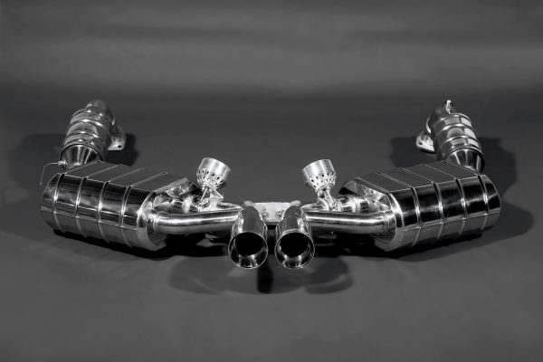 Capristo Valved Exhaust with 200 Cell Sports Cats (CES3) with Remote - 987 Boxster/Cayman MK2