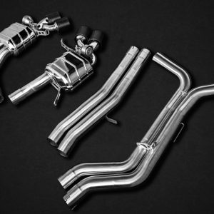Capristo Valved Exhaust with Bevelled Carbon Fiber Tips CES3 with Remote - RS6 / RS7 (C8)