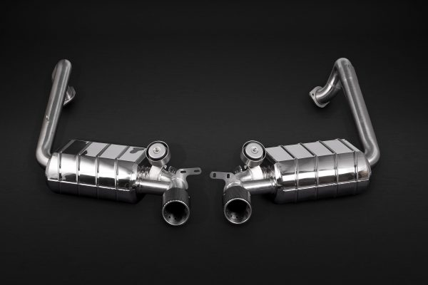 Capristo Valved Exhaust with Carbon Tips (CES3) with Remote - 981/982 Boxster/Cayman/GT4/718