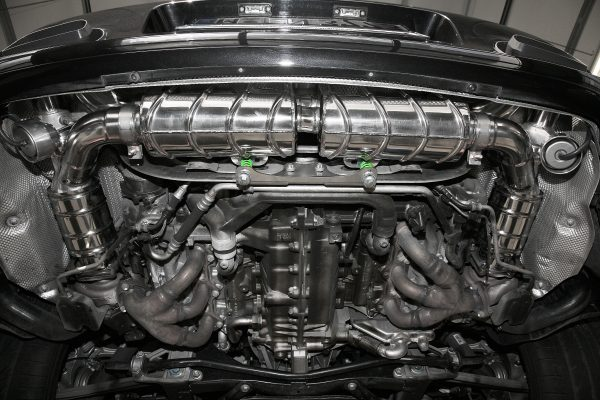 Capristo Valved Exhaust with Cat Delete Test Pipes (CES3) with Remote - 997.1 Turbo/S/GT2/2RS