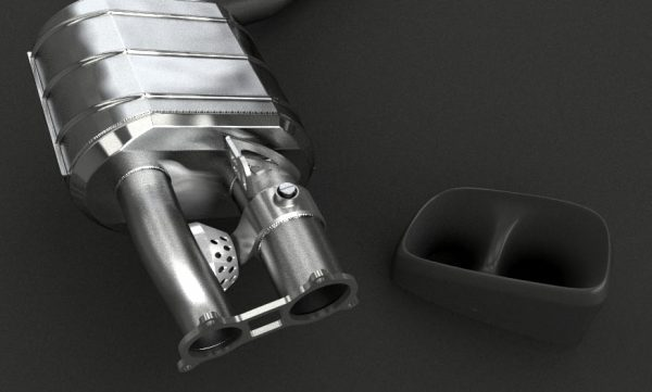 Capristo Valved Exhaust with Mid-Pipes (CES3) with Remote - 970 Panamera Turbo/S