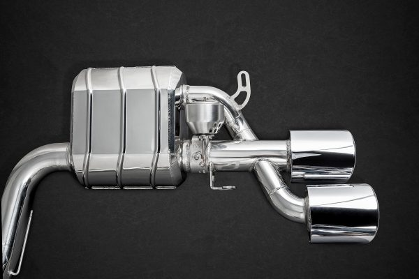 Capristo Valved Exhaust with Mid-Silencer Delete Pipes CES3 with Remote - C63 AMG (W204)