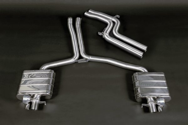 Capristo Valved Exhaust with Mid-Silencer Delete Pipes - RS4 / RS5 (B8)
