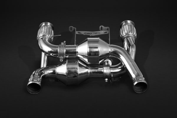 Capristo Valved Exhaust with Sports Cats 100 Cell (with Heat Blankets) (CES3) with Remote McLaren 720s