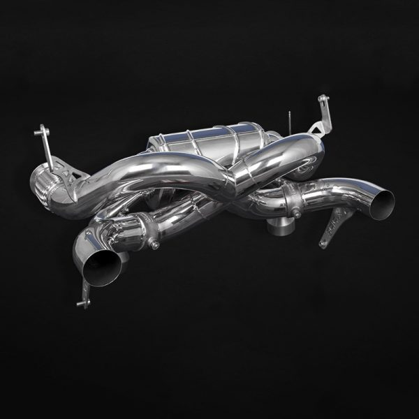 Capristo Valved X Pipe Exhaust for OEM tips - Huaracan