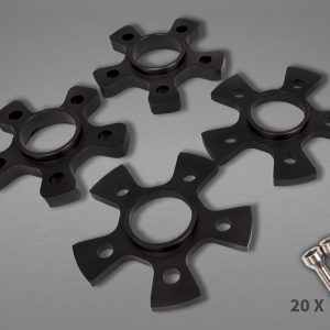 Capristo Wheel Spacers 14mm Front/17mm Rear Star Shape with Titanium Wheel Bolts - Portofino