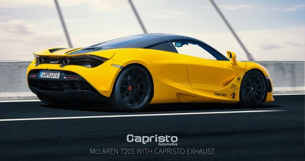 Capristo Valved Exhaust with Sports Cats 200 Cell (with Heat Blankets) (CES3) with Remote McLaren 720s