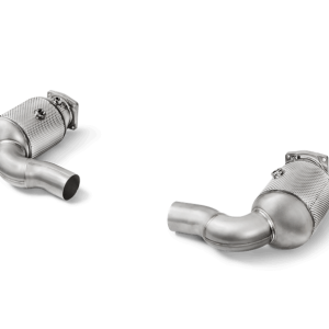 Akrapovic Link Pipe Set w Cat STAINLESS STEEL - 911 Turbo (991.2)