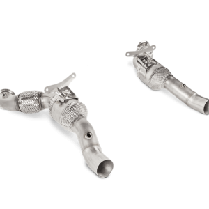 Akrapovic Link Pipe Set with High-Flow 200 psi Catalytic Converter - 488 GTB / 488 Spider