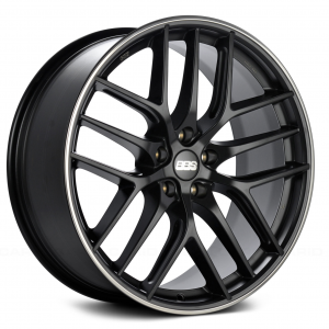 Supreme Power BBS CCR Black Center with Polished Lip Wheel
