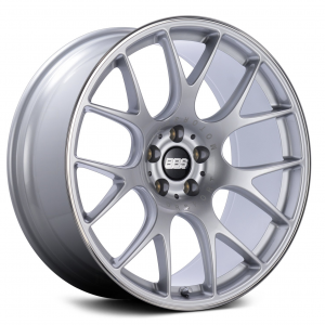 Supreme Power Wheels BBS CHR Diamond Silver with Polished Lip Wheel