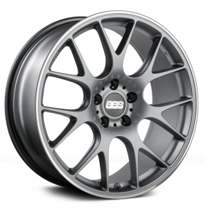 Supreme Power Wheels BBS CHR Titanium with Polished Lip Wheel