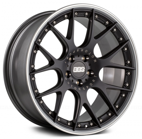 Supreme Power Wheels BBS CHRII Black with Polished Lip Wheel