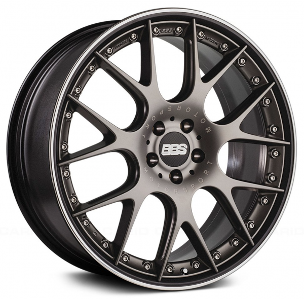 Supreme Power Wheels BBS CHRII Satin Platinum with Polished Lip Wheel
