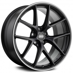 Supreme Power Wheels BBS CIR Black with Polished Lip Wheel