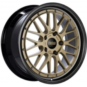 Supreme Power Wheels BBS LM Gold with Diamond Black Lip