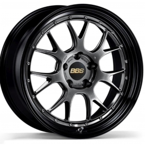 Supreme Power Wheels BBS LMR Diamond Black with Gloss Black Lip