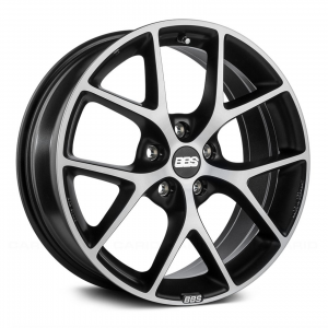 Supreme Power Wheels BBS SR Gray with Diamond Cut Face