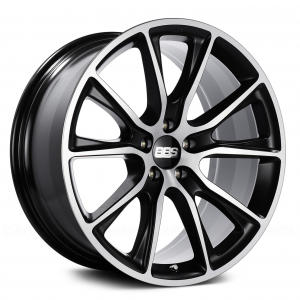 Supreme Power Wheels BBS SV Black with Diamond Cut Face